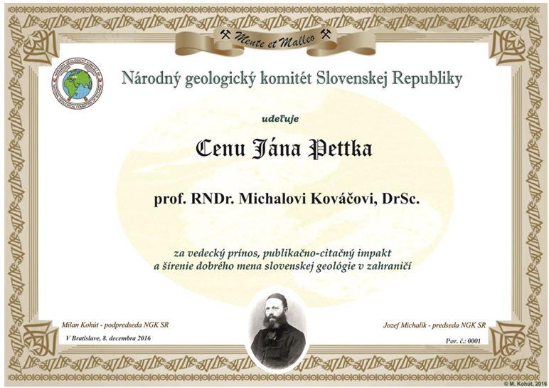 Cena Jana Pettka
