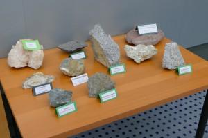 Ilustračná ukážka hornín.