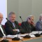 Členovia hodnotiaceho panelu, zľava: Martin Hynes, prof. Pär Omling (predseda), prof.       Helmut Weissert a prof. John Wood.