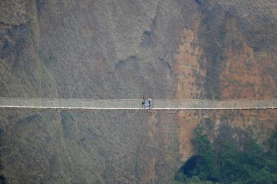 Visutý most Kushma Balewa nad riekou Kali Gandaki má dĺžku 347 m.