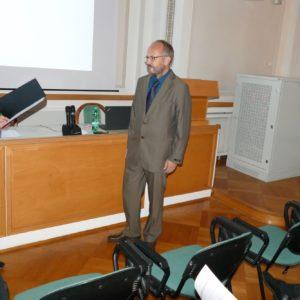 Odovzdávanie Medaily Akademika Bohuslava Cambela doc. Mgr. Vojtěchovi Janouškovi, PhD.