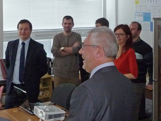 Minister of Education Juraj Draxler on the ground of the Earth Science Institute SAS