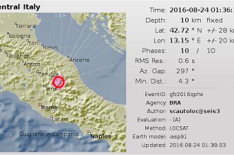 Zemetrasenie v Taliansku 24. augusta 2016