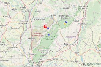 Slabé zemetrasenie na Záhorí
